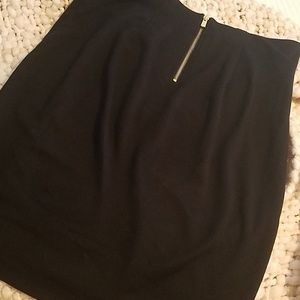 Philosophy black knee length pencil skirt